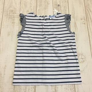 ジャカディ(Jacadi)のJACADI  フレンチスリーブボーダーTシャツ 6A 新品(Tシャツ/カットソー)