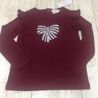 ジャカディ(Jacadi)のJACADI  リボン柄長袖Tシャツ 6A 新品(Tシャツ/カットソー)