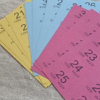 海外 紙モノ クロークルームチケット3色  12シート おすそ分け(印刷物)
