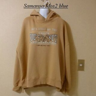 サマンサモスモス(SM2)のSamansa Mos2 blueサマンサモスモスゆったりチップ&デールパーカー(パーカー)