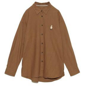 Lily Brown - LilyBear刺繍シャツ ブラウン