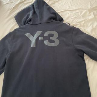 Y-3 - Y-3 アディダスコラボ ビッグロゴ ブラック ジップアップパーカー