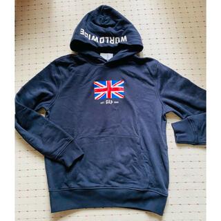 ギャップ(GAP)の新品未使用タグ付きGAPメンズトレーナーネイビー国旗イギリスサイズS(パーカー)