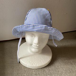 ベビーギャップ(babyGAP)の新品未使用GAPベビーハットサイズ51シアサッカー生地ストライプ(帽子)