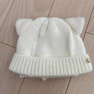 プティマイン(petit main)の《お値下げ》プティマイン 猫耳ニット帽 48(ニット帽/ビーニー)