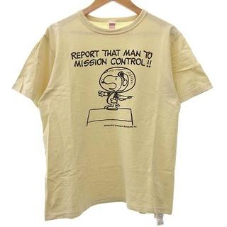 ウエアハウス(WAREHOUSE)のWAREHOUSE ピーナッツ スヌーピー Tシャツ 半袖 プリント イエロー(Tシャツ/カットソー(半袖/袖なし))