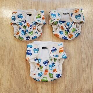 ニシキベビー(Nishiki Baby)の【cham様専用】おむつカバー サイズ80 3枚セット(1枚新品)(ベビーおむつカバー)