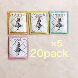 不思議の国の紅茶 20P×4 ティーバッグ 80Pack ゆりゆり様(茶)