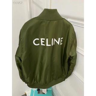 セリーヌ(celine)の【CELINE】ナイロンツイル ボンバージャケット ロゴ(テーラードジャケット)