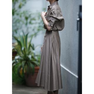 マディソンブルー(MADISONBLUE)の新品タグ付 マディソンブルー MI-MOLLET FLARE SK C/LI(ロングスカート)