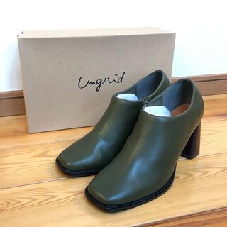 アングリッド(Ungrid)の新品タグ付き Ungrid スクエアトゥブーツ(ブーツ)