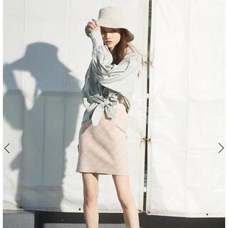 エイミーイストワール(eimy istoire)の完売品♡ ES spring monogram リバーシブルニットミニスカート(ミニスカート)