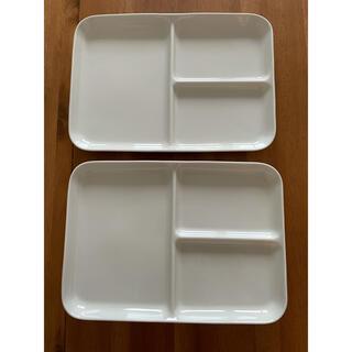 ムジルシリョウヒン(MUJI (無印良品))の(もちこ様専用)無印良品 プレート お皿 仕切り付き(食器)