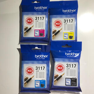 ブラザー(brother)の✨新品未使用✨brother 純正インク LC3117 4色セット(オフィス用品一般)