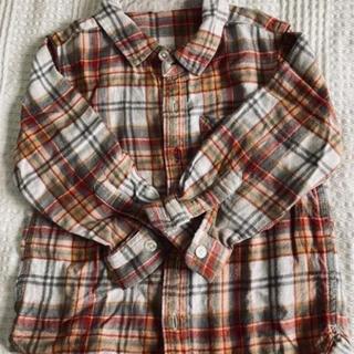 ムジルシリョウヒン(MUJI (無印良品))の無印 チェックシャツ  100(ブラウス)