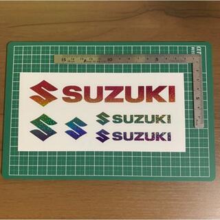 スズキ(スズキ)のSUZUKI スズキ ステッカー 虹 ハンドメイド ブラックバス 送料無料(車外アクセサリ)
