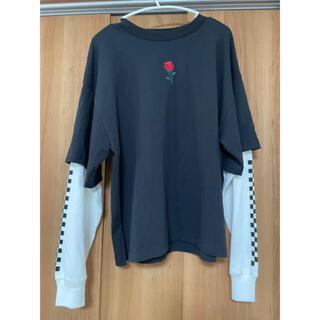 ウィゴー(WEGO)のスリーブ 刺繍レイヤードロンT(Tシャツ(長袖/七分))