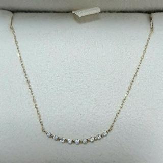 ココシュニック ダイヤモンド カーブライン ネックレス K10YG 0.09ct