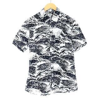 ケンゾー(KENZO)のケンゾー KENZO シャツ 半袖 総柄 S 黒 ブラック 白(シャツ)
