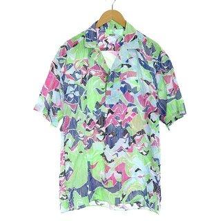 ケンゾー(KENZO)のケンゾー KENZO シャツ 半袖 オープンカラー 総柄 M(シャツ)