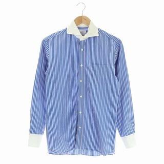 マッキントッシュフィロソフィー(MACKINTOSH PHILOSOPHY)のマッキントッシュフィロソフィー シャツ クレリック ストライプ 38 青 白(シャツ)