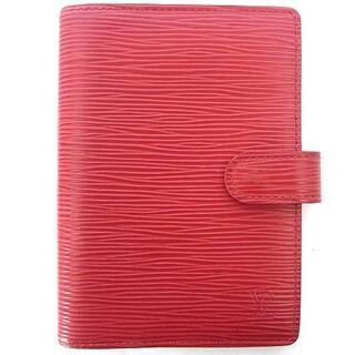 ルイヴィトン(LOUIS VUITTON)のルイヴィトン R2005E エピ アジェンダ PM システム 手帳カバー 赤(その他)