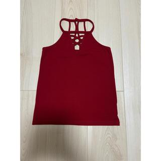 リゼクシー(RESEXXY)のリゼクシー RESEXY タンクトップ 赤 ワインレッド 紐(Tシャツ(半袖/袖なし))
