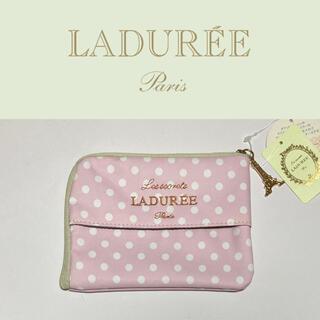 ラデュレ(LADUREE)のLADUREE  ティッシュ&マスクケース ラデュレ 新品 ドット ピンク 水玉(ポーチ)