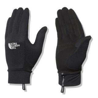 ザノースフェイス(THE NORTH FACE)の新品 ノースフェイス ブラック手袋(手袋)