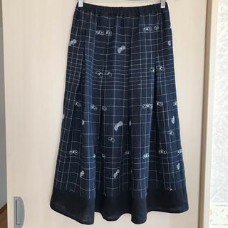 ミナペルホネン(mina perhonen)のミナペルホネン Fabric choucho 使用 ハンドメイドスカート(ロングスカート)