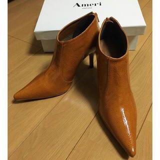アメリヴィンテージ(Ameri VINTAGE)のCROCO SHORT BOOTS(ブーティ)