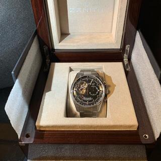 ゼニス(ZENITH)のゼニス エルプリメロ パワーリザーブ クロノ 日本正規 ほぼ新品(腕時計(アナログ))