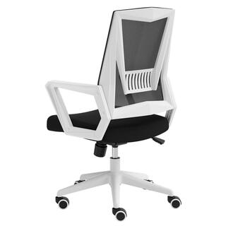 オフィスチェア デスクチェア 椅子 固定式アームレスト メッシュ 無段階昇降 (オフィスチェア)