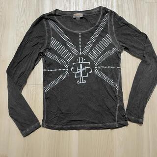 ディーゼル(DIESEL)の正規 ディーゼル ブラック ダメージ色 ロンT(Tシャツ(長袖/七分))