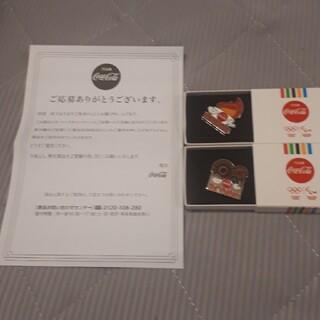 コカコーラ(コカ・コーラ)の値下げ中‼️東京2020オリンピック記念ピン 2個セット(バッジ/ピンバッジ)