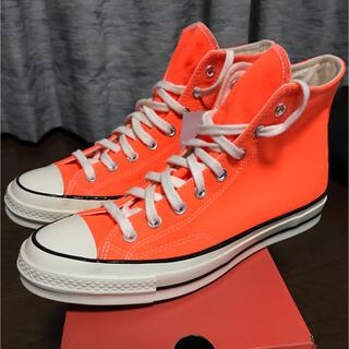 コンバース(CONVERSE)のUS9 CONVERSE コンバース チャックテイラー CT70 オレンジ(スニーカー)