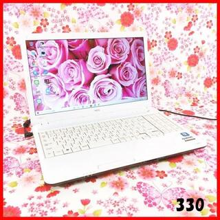 エヌイーシー(NEC)の330ノートパソコン本体♪Corei5♪新品SSD♪初心者も安心♪Win10(ノートPC)