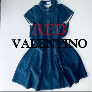 レッドヴァレンティノ(RED VALENTINO)の美品レッドヴァレンティノ40(ひざ丈ワンピース)