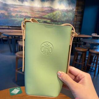 スターバックスコーヒー(Starbucks Coffee)の【スターバックス海外限定】日本未発売 定期入れ ショルダーバック グリーン(ショルダーバッグ)