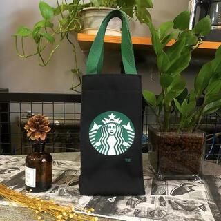 スターバックスコーヒー(Starbucks Coffee)の【スターバックス海外限定】日本未発売 ドリンクバック 小物入れ 黒色  一点 (トートバッグ)