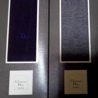 クリスチャンディオール(Christian Dior)の✨クリスチャンディオール✨ウールソックス 2足セット ✨ダークネイビー  グレー(ソックス)