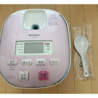 SHARP - SHARP ジャー炊飯器KS-H5E9 ピンク(3合炊き)シャープ 2013年
