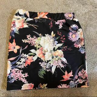 ダチュラ(DaTuRa)のタグ付き未使用 DaTuRa 花柄タイトスカート(ミニスカート)