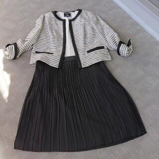23区 ツィードジャケット 新品同様 大きいサイズ 46/48 プリーツスカート