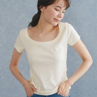 ピーチジョン(PEACH JOHN)の値下げ ピーチジョン 美品 デコルタンTシャツ 2枚組 ホワイト&ピンク(Tシャツ(半袖/袖なし))