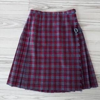 ローラアシュレイ(LAURA ASHLEY)のローラアシュレイ スカート プリーツスカート チェック ウール(ひざ丈スカート)