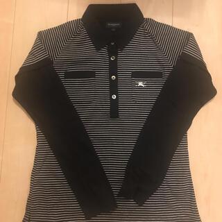 バーバリー(BURBERRY)のバーバリー レディース ポロシャツ  長袖 ゴルフ  Lサイズ(ウエア)