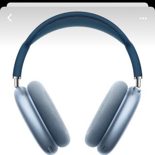 アップル(Apple)のApple airpods max ブルー 美品(ヘッドフォン/イヤフォン)