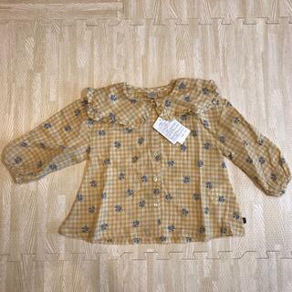 フタフタ(futafuta)の新品未使用タグ付き♡ futafuta チュニック 花柄 90サイズ(Tシャツ/カットソー)
