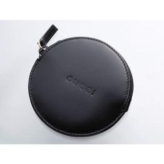 グッチ(Gucci)のK1415 美品 グッチ ロゴ文字刻印 本革 丸型 コインケース(コインケース/小銭入れ)